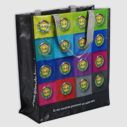 En svart Non-woven kasse med fototryck